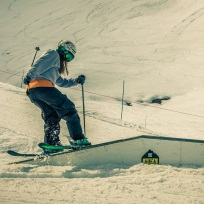 """Martha during her season in Meribel - she won """"Best Line"""" at the womens SheRides competition"""