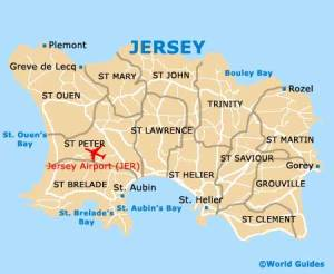 Jersey map from: world-guides.com